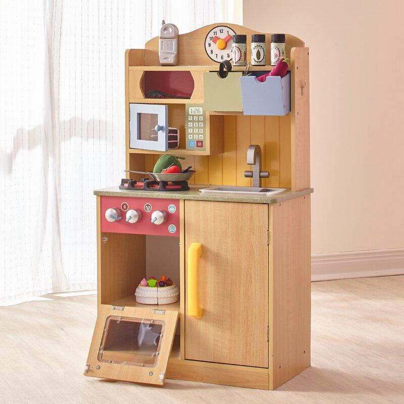 5 Piece Little Chef Wooden Play Kitchen Set With Accessories