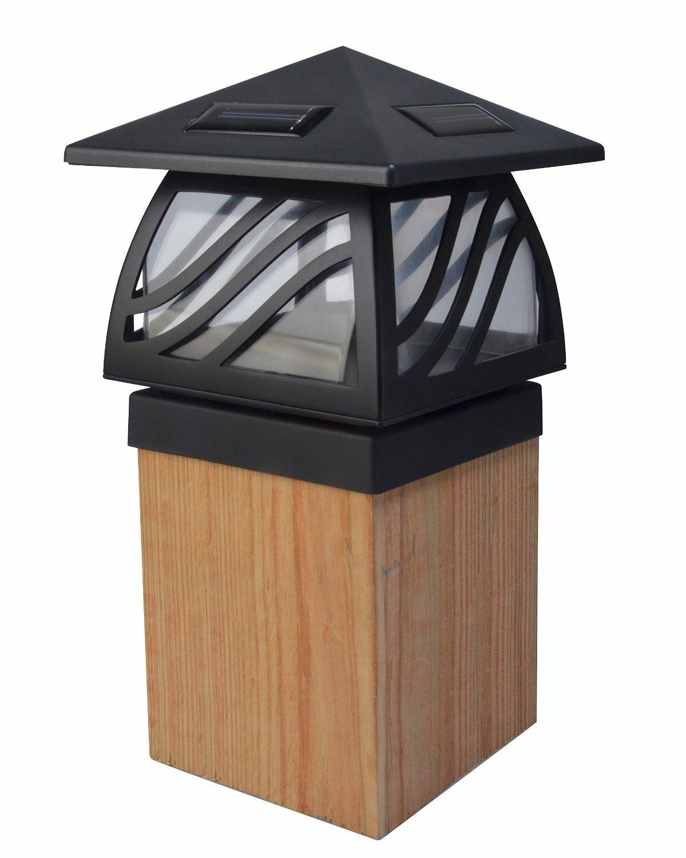 Solar Power Path Deck Post Cap Light Fence Mount Lamp White 4x4