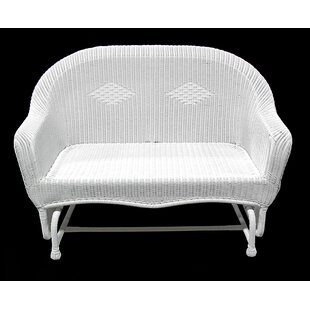 LB International Resin Wicker Double Glider Chair