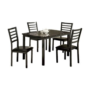 Crawford 5 Piece Dining Set Hokku Designs