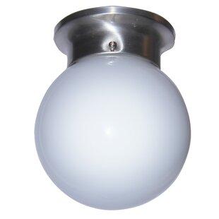 Brooklyn 1-Light Sphere Flush Mount by Ebern Designs