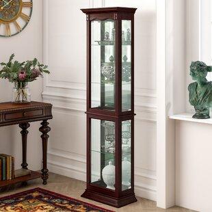 Astoria Grand Watkin Floor Standing Lighted Curio Cabinet