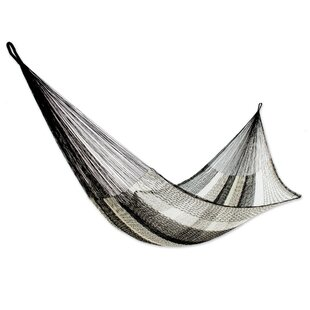 Somber Slumber Rope Single Nylon Tree Hammock by Novica