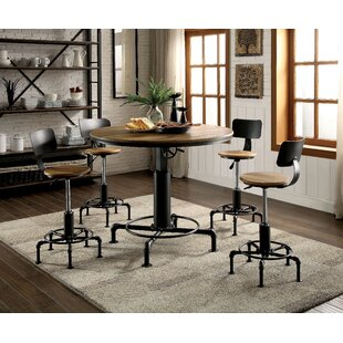 Gowan 5 Piece Adjustable Pub Table Set
