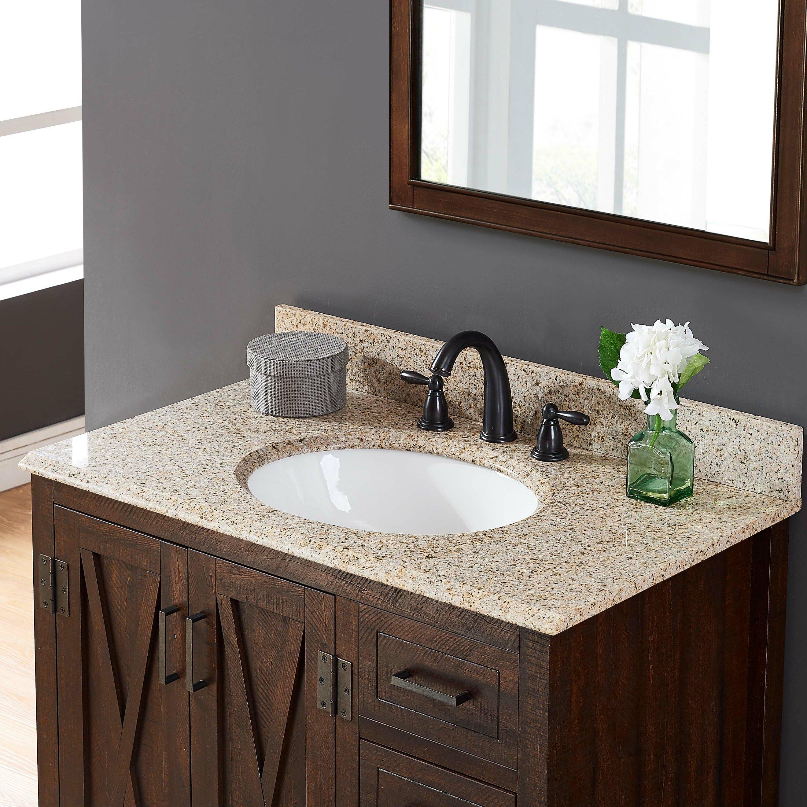 Tile Top Granite 31 Single Bathroom Vanity Top Reviews Wayfair