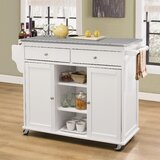 Aries Kitchen Cart by Rosecliff Heights