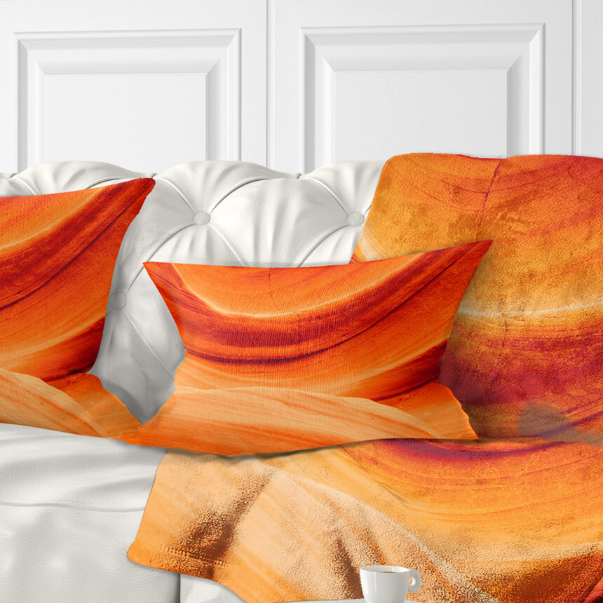 East Urban Home Landscape Antelope Canyon Wall Lumbar Pillow Wayfair