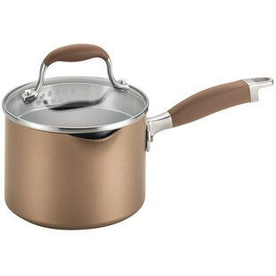 Nonstick Straining 2 qt. Sauce Pan with Lid