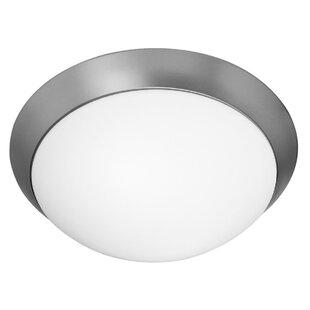 Ebern Designs Capp 3-Light Outdoor Flush Mount