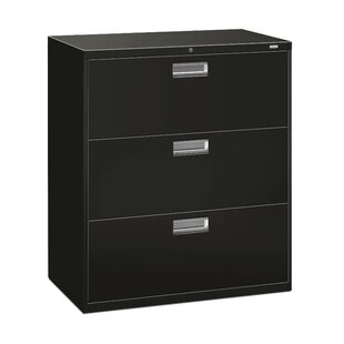 HON Brigade 600 Series 3-Drawer Lateral Filing Cabinet