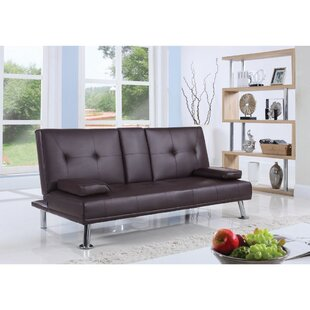 Latitude Run Casten Polyurethane Convertible Sofa
