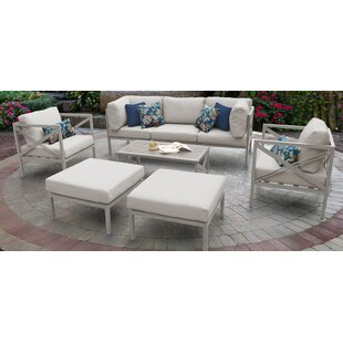 Carlisle Outdoor 8 Piece Sofa Seating Group with Cushions by TK Classics