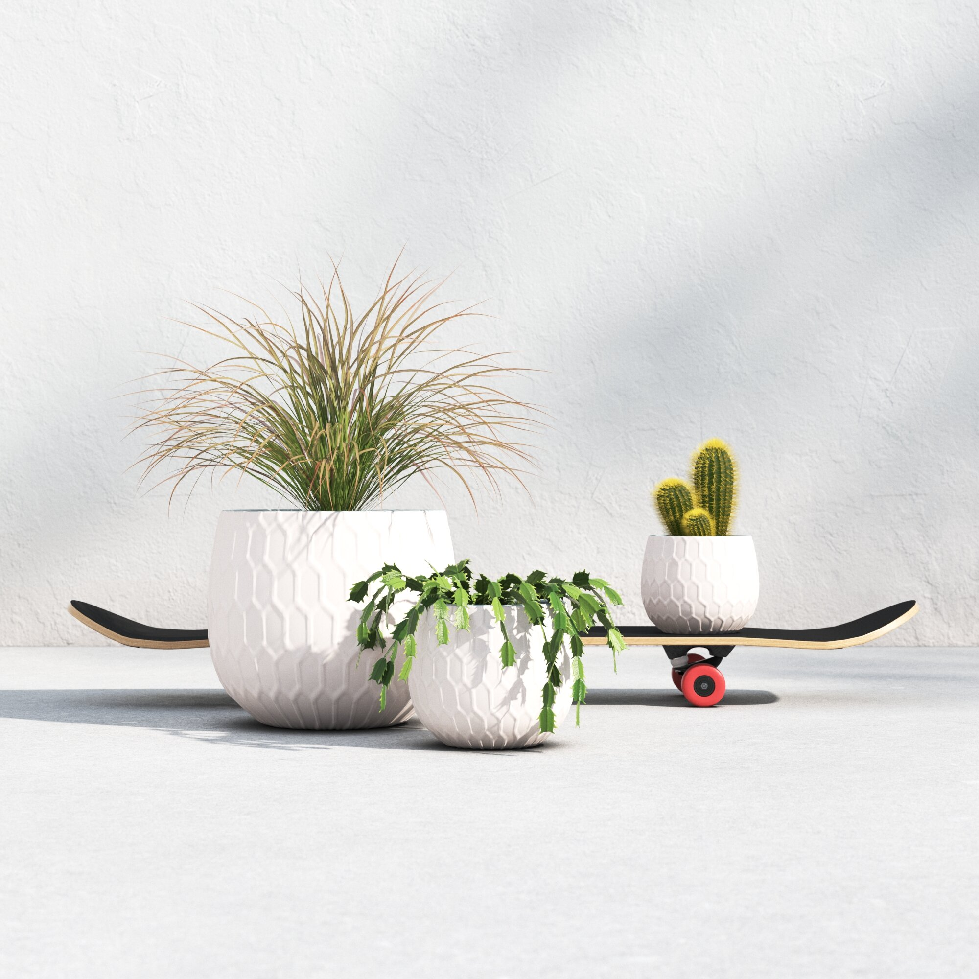 Halley 3 Piece Ceramic Pot Planter Set Reviews Allmodern