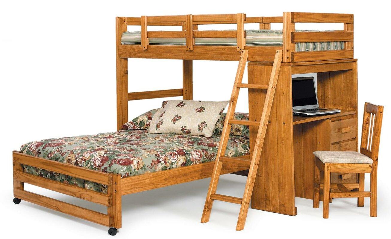 chelsea home twin over full lshaped bunk bed  reviews  wayfair - defaultname