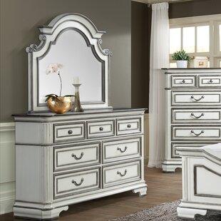 House of Hampton Newsom 7 Drawer Dresser with Mirror