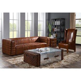 Randell 2 Piece Leather Sofa Set By Rosalind Wheeler