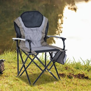 Schafer Aluminum Outdoor Folding Padded Camping Chair by Freeport Park