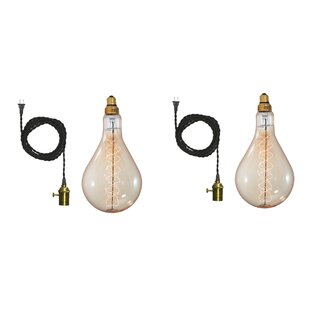 Wrought Studio Guarino 1-Light Bulb Pendant (Set of 2)