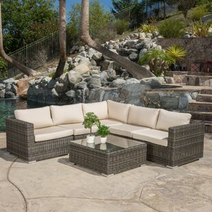 Romero 6 Piece Sunbrella Sectional Set with Cushions
