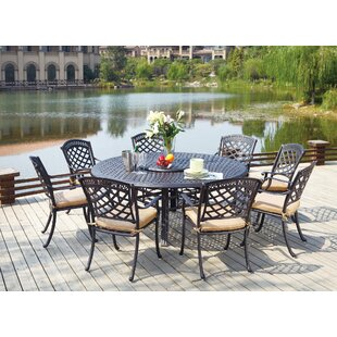 Alcott Hill Thompson 10 Piece Dining Set with Cushions