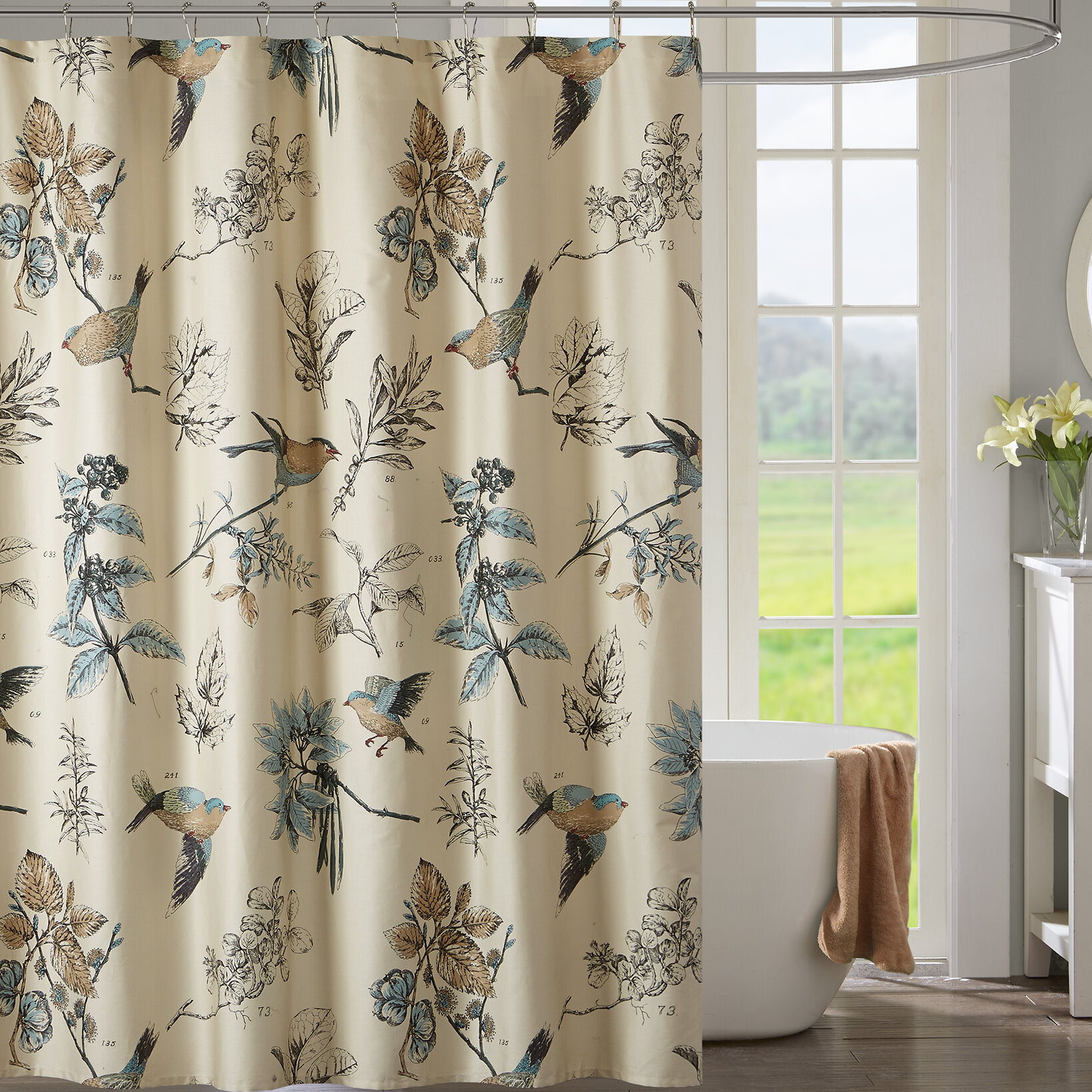 Shawnee 100 Cotton Single Shower Curtain