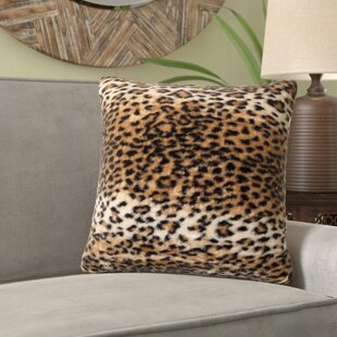 Beirut El Paso Leopard Faux Fur Throw Pillow (Set of 2)