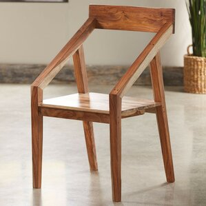 Sheesham Wood Angled Arm Chair by VivaTerra