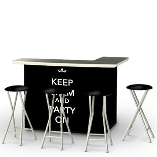 Keep Calm and Party On 7 Piece Bar Set