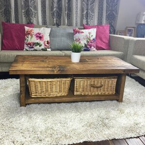 Double Spring Rustic Coffee Table