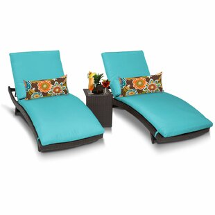 Medley Sun Lounger Set with Cushions and Table (Set of 2)