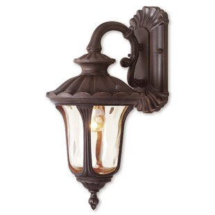 Reviews Gurnee Iced Cased Glass 1-Light Outdoor Wall Lantern By Three Posts
