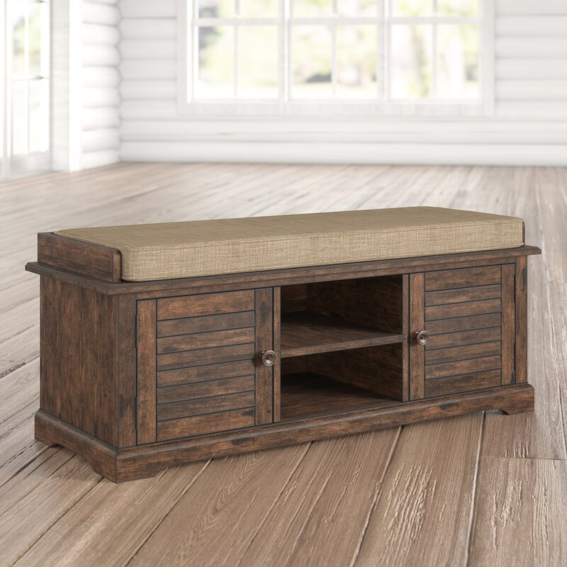 Superbe Lutie Wood Entryway Storage Bench