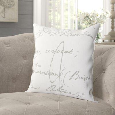 """Landes Cotton Pillow Cover Lark Manor Size: 22"""" H x 22"""" W x 0.25"""" D, Color: Neutral\Gray"""
