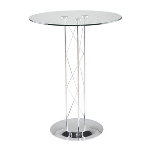 Berlanga Dining Table with Glass Top by Orren Ellis
