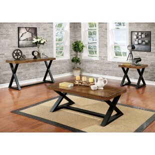 Gracie Oaks Sikeston 3 Piece Coffee Table Set