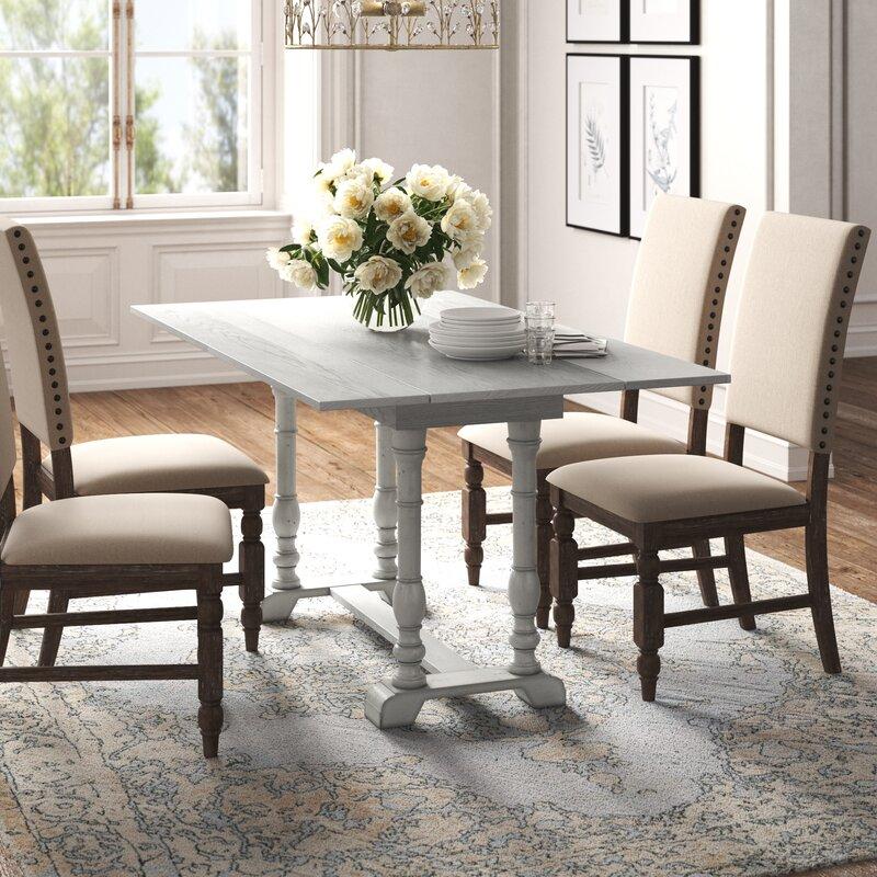 Kelly Clarkson Home Charleston Extendable Trestle Dining Table Reviews Wayfair