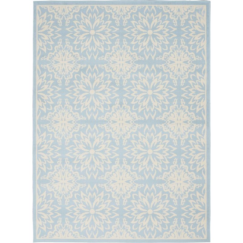 Waverly Baby Boggess Floral Ivory Light Blue Area Rug Reviews Wayfair Ca