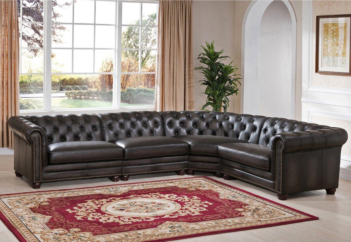 Anaheim Leather Modular Sectional : leather modular sectional - Sectionals, Sofas & Couches
