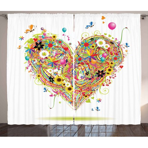 Heart Pencil Pleat Blackout Thermal Curtains East Urban
