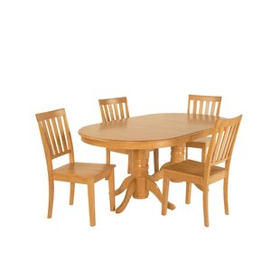 Inwood 5 Piece Extendable Solid Wood Dining Set DarHome Co