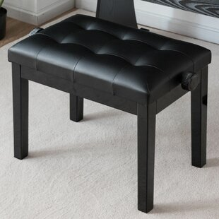 Winston Porter Citium Height Adjustable Upholstered Piano Bench