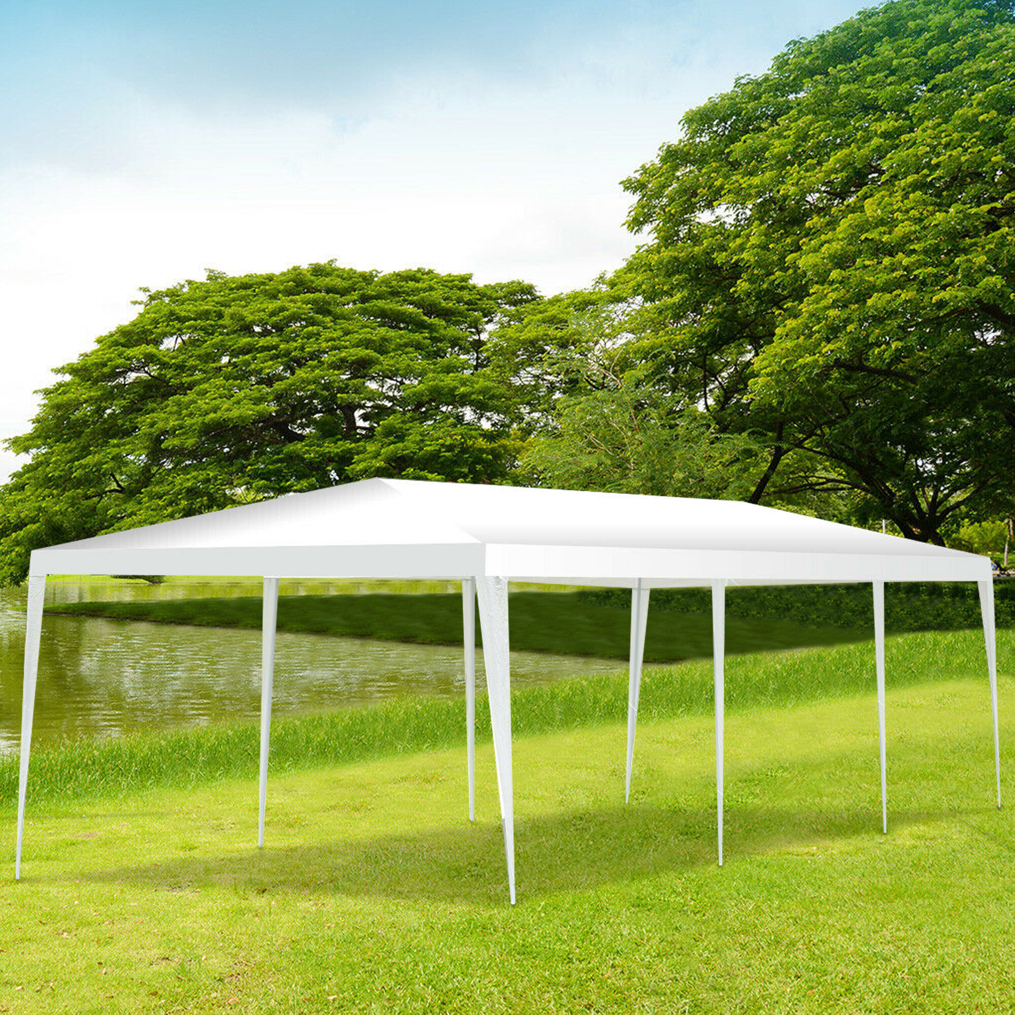 Angeles Home 30 Ft W X 10 Ft D Metal Party Tent Wayfair