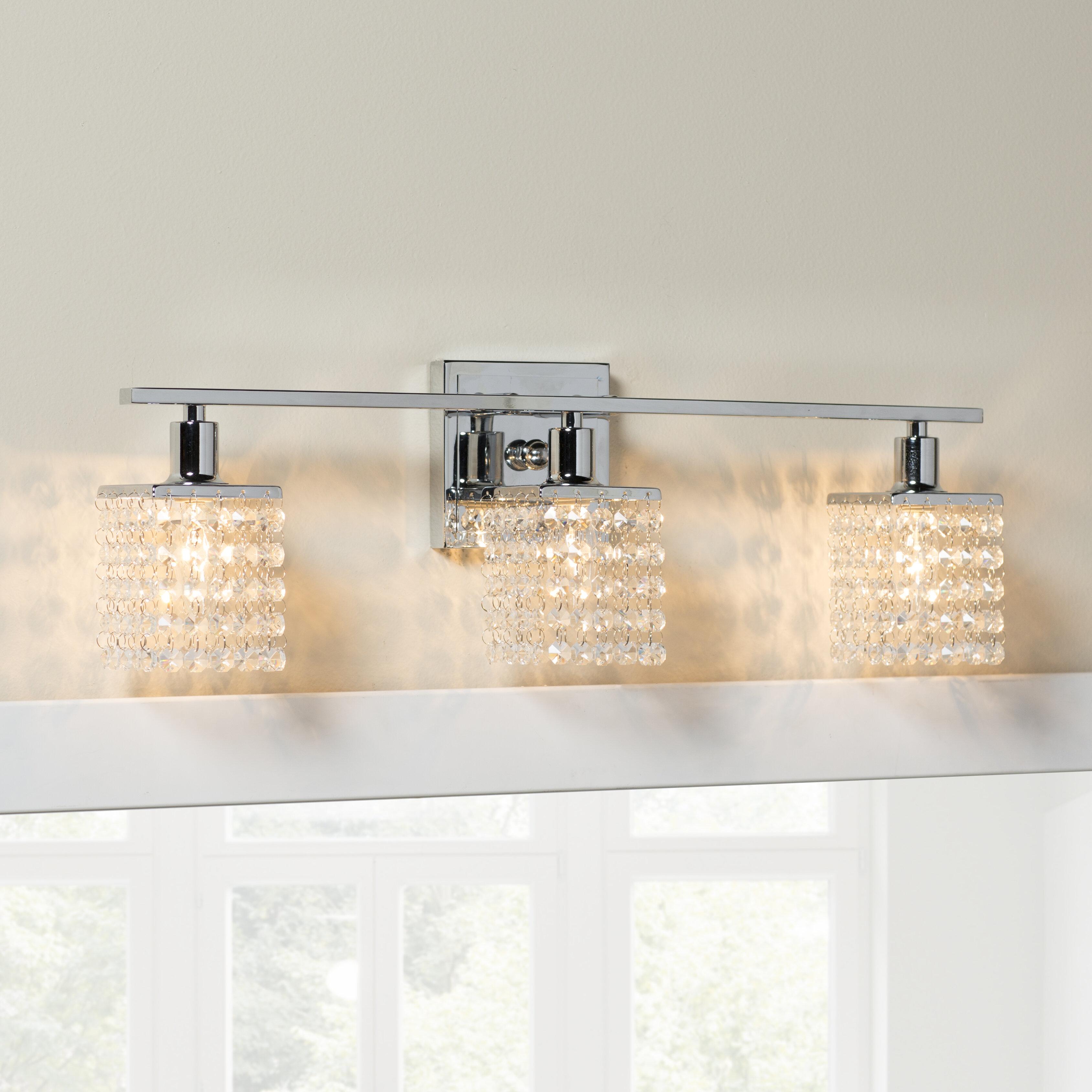 Mckissick 10-Light Dimmable Chrome Vanity Light