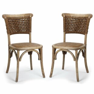 Adeco Trading Dining Cane Dining Chair (Set of 2)