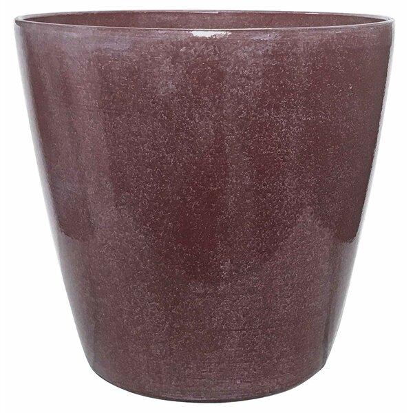 Happy Planter Planter 19 7 X 19 7 X 18 9 Raspberry Glaze Wayfair