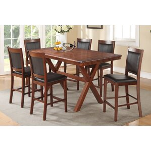 Shaman 7 Piece Counter Height Dining Set by A&J Homes Studio
