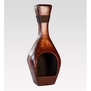Decorative Bottle Clay Wood Burning Chiminea By REZ Furniture