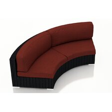 epping loveseat with cushions - Curved Loveseat