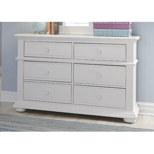 Dickens 6 Drawer Double Dresser