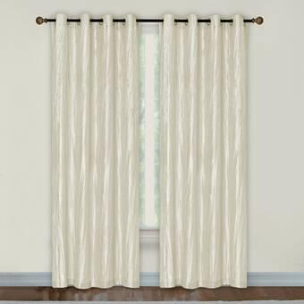 Latitude Run Maestas Crushed Taffeta Solid Color Room Darkening Grommet Curtain Panels Reviews Wayfair